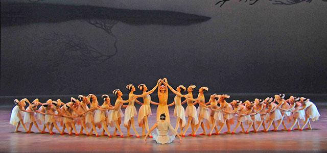 壮大な音楽と一糸乱れぬ華麗な演技に喝采が送られた(福岡サンパレスホテル&ホールで)