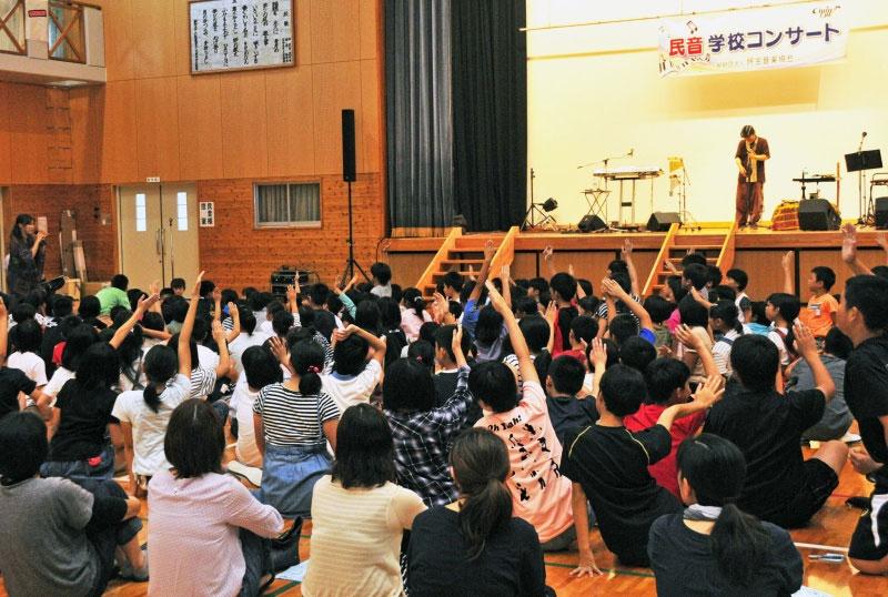 九州創価学会 長崎県新上五島町で民音学校コンサート