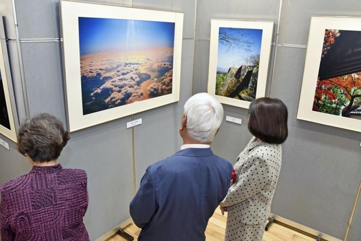 九州創価学会 大分・津久見市で自然との対話展